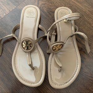 Tory Burch tan ankle strap sandals